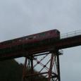 餘部鉄橋を渡るキハ47系普通列車