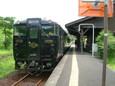 嘉例川駅に停車する特急はやとの風号