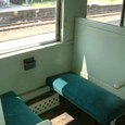 片鉄保存客車車両4人掛ボックスシート